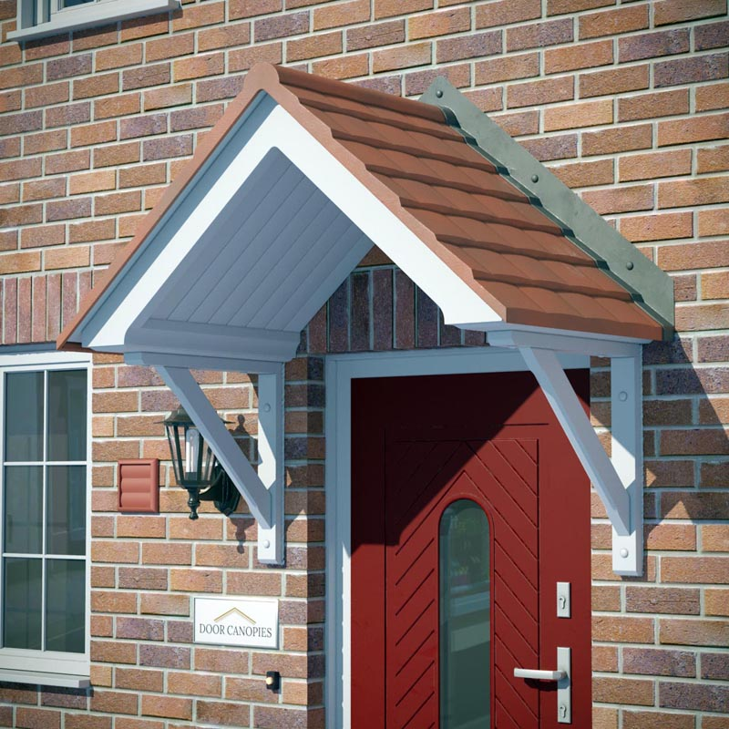 Brent Red Tile GRP Canopy